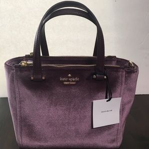 Kate Spade Dawn Velvet Mini Kona Crossbody Purse